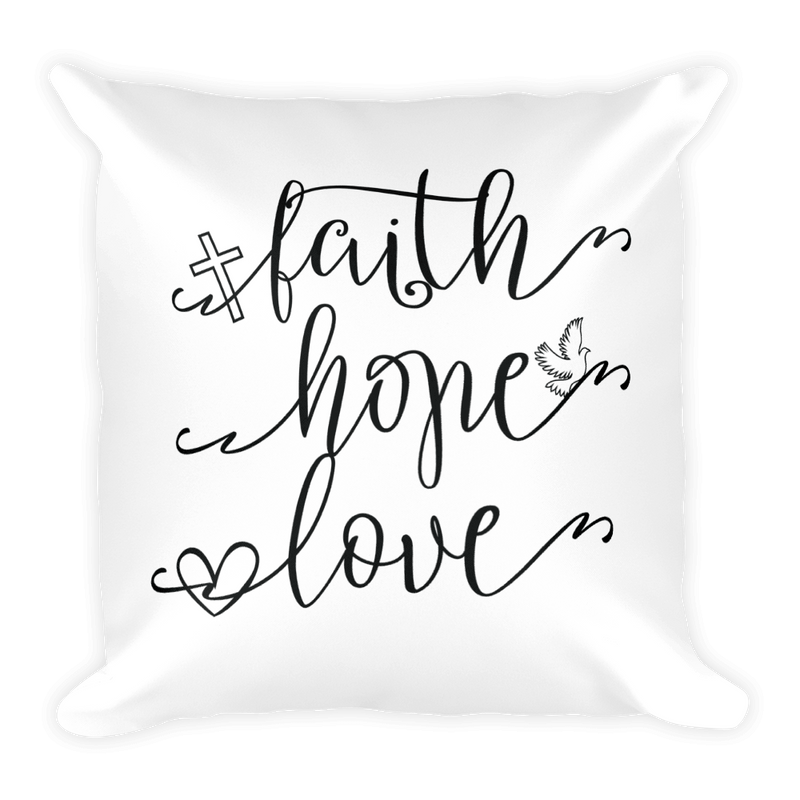 Faith over Fear - Pillow