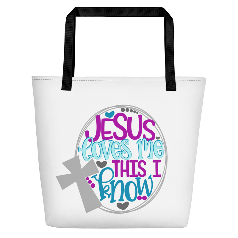 Jesus Loves Me - Beach Bag