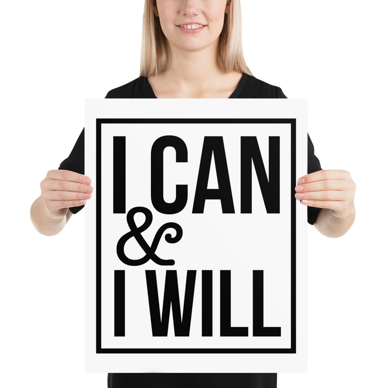 I Can & I Will - Poster