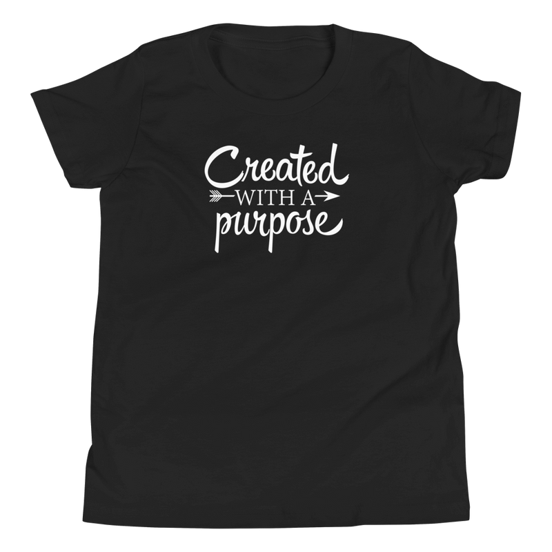Created with a Purpose - Youth Short Sleeve T-Shirt
