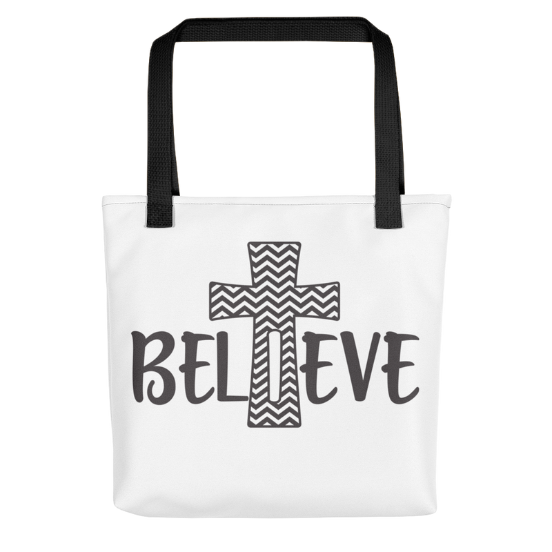 Believe Cross - Tote Bag