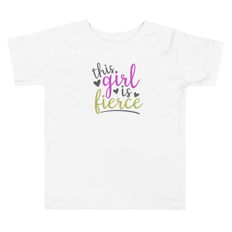 This Girl Is Fierce - Toddler Short Sleeve Tee