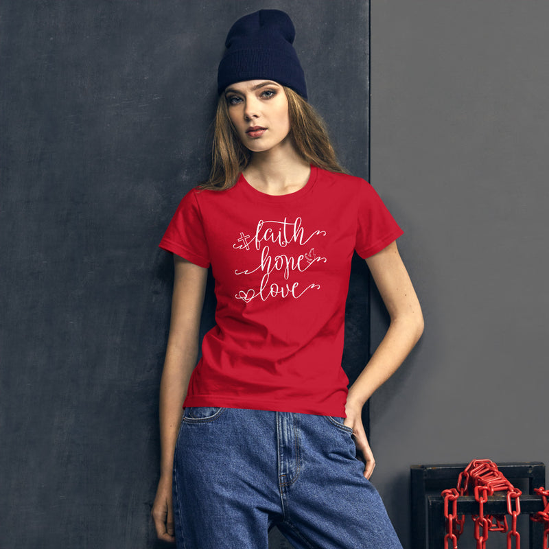 Faith Hope Love - Women's Cotton T-Shirt