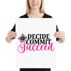 Decide Commit Succeed - Poster