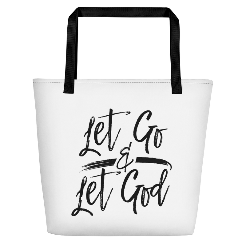 Let Go & Let God - Beach Bag