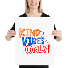 Kind Vibes Only - Poster
