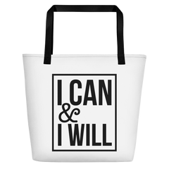 I Can and I Will - Beach Bag