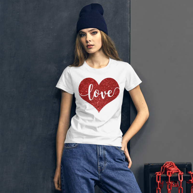 Love Heart - Women's Cotton T-Shirt