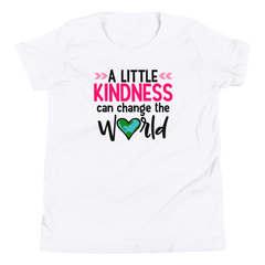 A Little Kindness Can Change the World  - Pink - Youth Short Sleeve T-Shirt