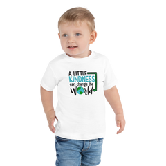 A Little Kindness Can Change the World - Blue - Toddler Short Sleeve Tee