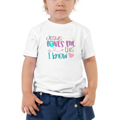 Jesus Loves Me This I Know - Toddler Short Sleeve Tee