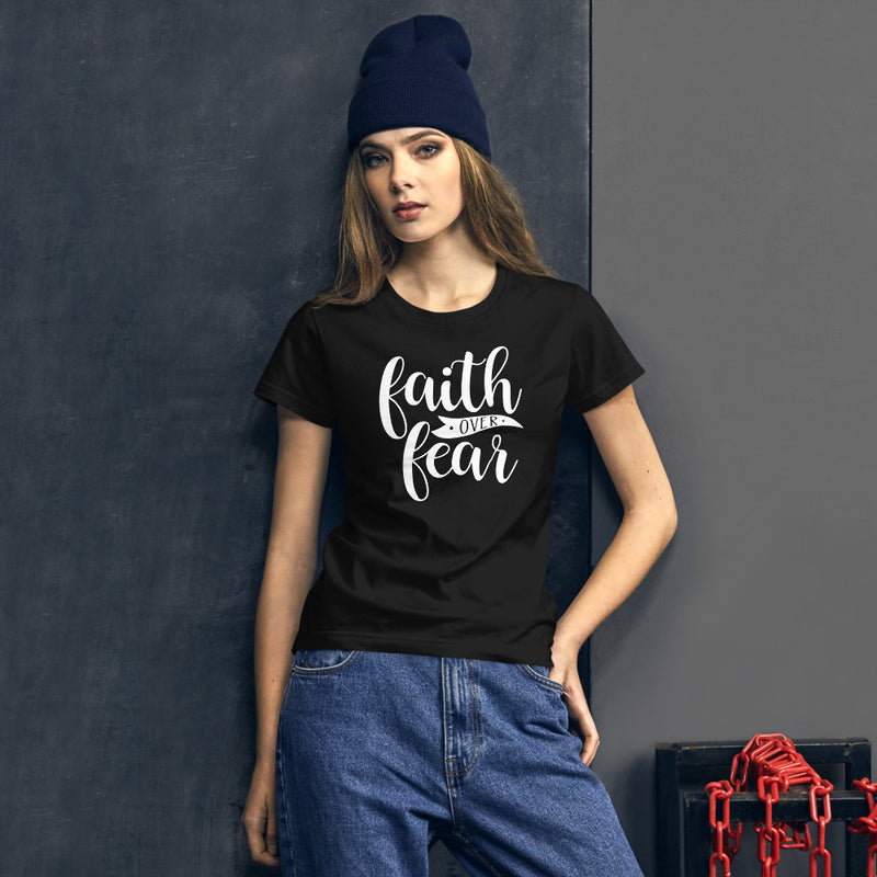 Faith over Fear - Women's Cotton T-Shirt