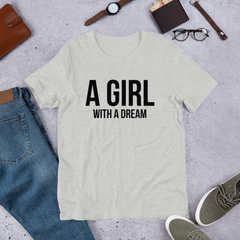 A Girl With A Dream - Cotton T-Shirt