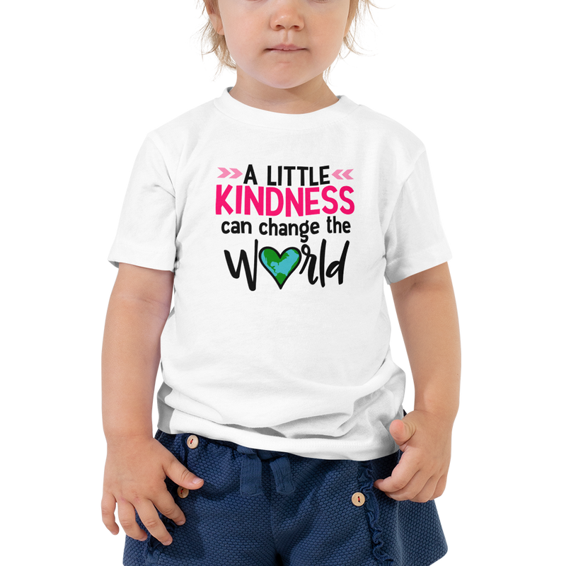 A Little Kindness Can Change the World  - Pink - Toddler Short Sleeve Tee