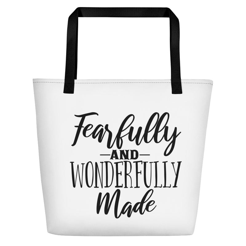 Fearfully and Wonderfully Made - Beach Bag