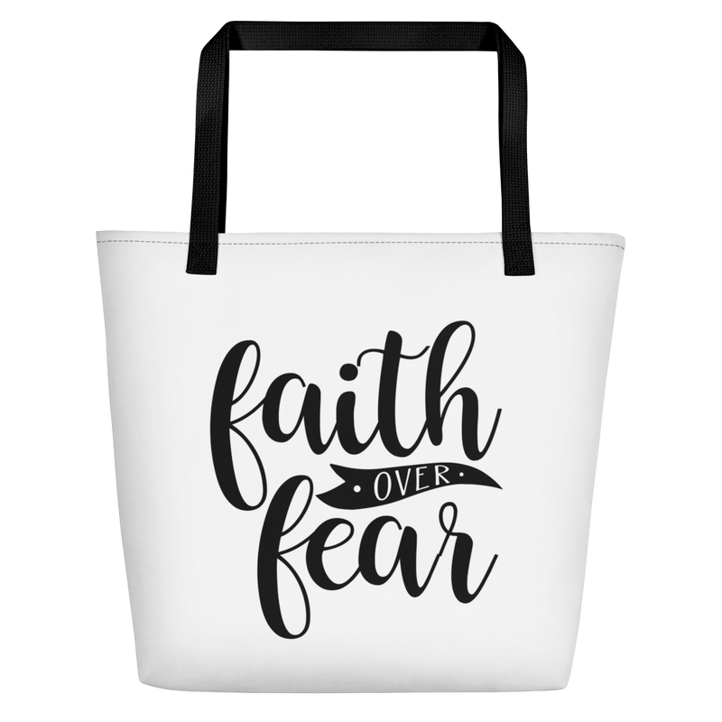 Faith over Fear - Beach Bag