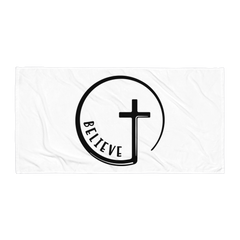 Believe Cross - Beach Towel