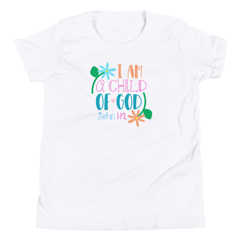 I Am a Child of God - Youth Short Sleeve T-Shirt