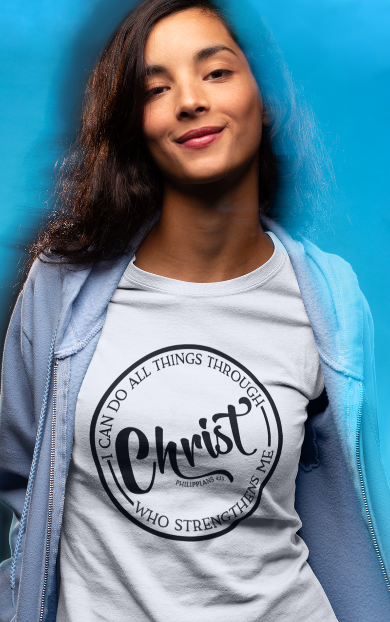 I Can Do All Things Through Christ - Cotton T-Shirt