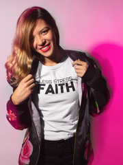 Less Stress More Faith - Cotton T-Shirt