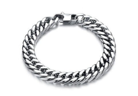 Large Link Stainless Steel Bracelet