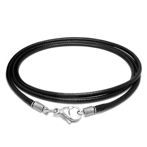 Black Wax Rope Necklace