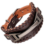Brown Multilayer Braid Rope Bracelet