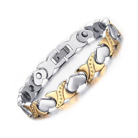 Heart Link Chain Healthy Care Energy Magnetic Bracelet