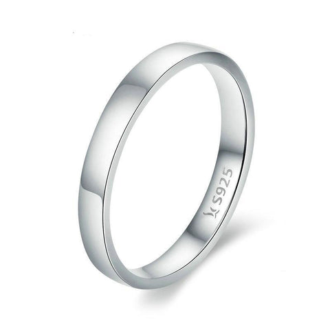 Silver Classic Round Finger Ring Band