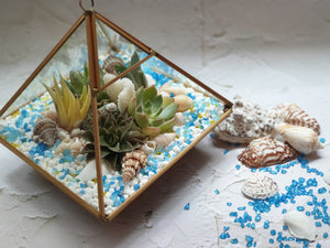 Sea Breeze Glass Terrarium