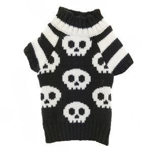 Skulls Dog Knitted Sweater - PuppyCentury