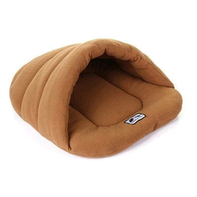 Fleece Cave Bed for Small Dogs - PuppyCentury