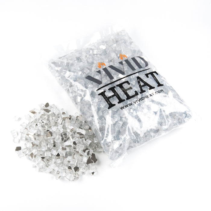 "1/2"" Titanium Reflective Fire Glass - 10lbs"