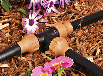 "1/2"" Universal Nut Lock Drip Irrigation Coupling - (for .620, .700 and .710 OD) 15-055"