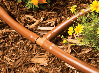 "17mm 1/2"" Barb Insert Drip Irrigation Tee Fittings (Brown)"