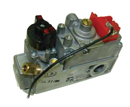 HPC - Hearth 200-D FRONT INLET/REAR OUTLET VALVE DEXEN - 200 deg. rated Front Inlet/Rear Outlet Millivolt Valve for Natural Gas.