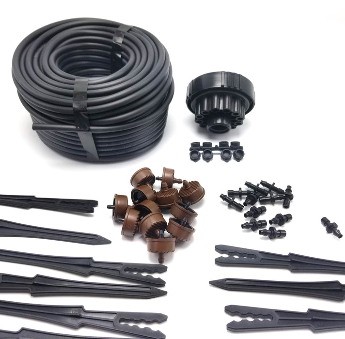 12 Plant Drip Irrigation Home Grow Kit - With Emitters