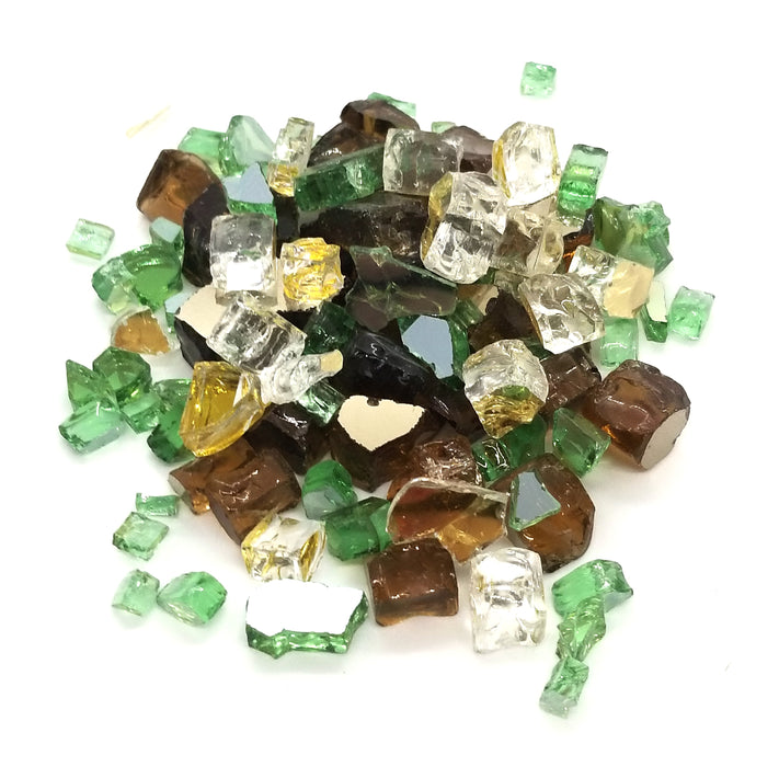 "1/2"" Irish Roast Green Gold & Amber Blend Pre-Mixed Fire Glass (10lbs)"