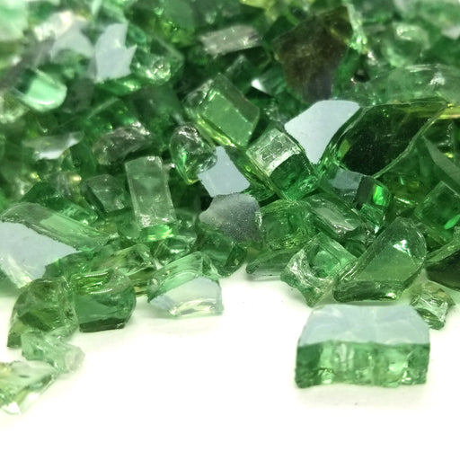 "1/4"" Tropical Green Reflective Fire Glass (10lbs)"