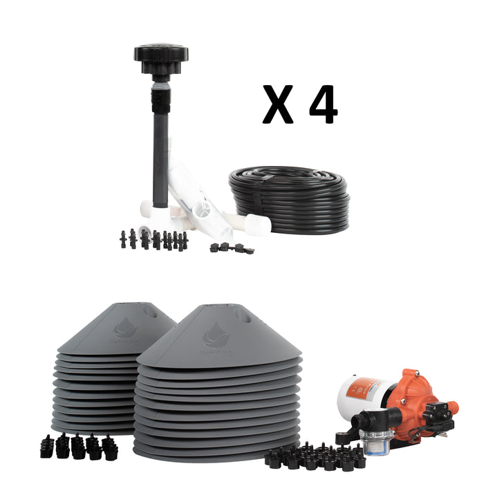 24-Plant Grow Kit - Drip Irrigation Emitters, Pump, Hydrolock Caps, Fittings, Manifold, Tubing