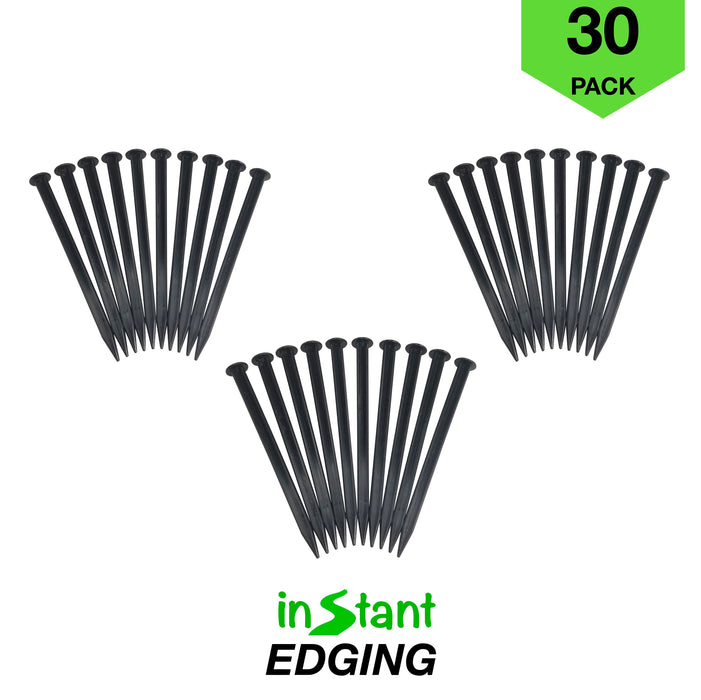 "Instant Edging - Pro-Plus 30ft Premium No Dig Yard Edging Kit, for Landscaping, and Flower Gardens - 2"" High"