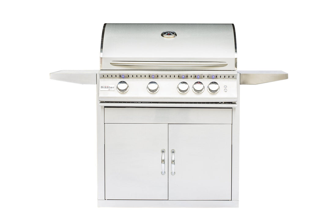 "SIZZLER PRO 32"" PREMIUM STAINLESS STEEL GRILL - SUMMERSET SIZPRO32-LP, SIZPRO32-NG"
