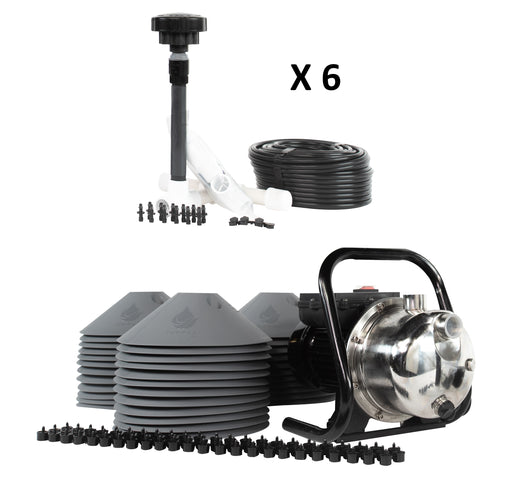 36-Plant Grow Kit - Drip Irrigation Emitters, Pump, Hydrolock Caps, Fittings, Manifold, Tubing
