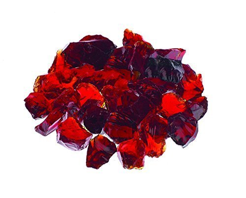 "10lbs ""Ruby Red"" Premium 1/4"" - Tempered Fire Glass"