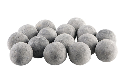 "Bond Mfg. - 3""inch Gray Permacoal Firespheres, Fire Pit & Fireplace Round Decorative Stones"