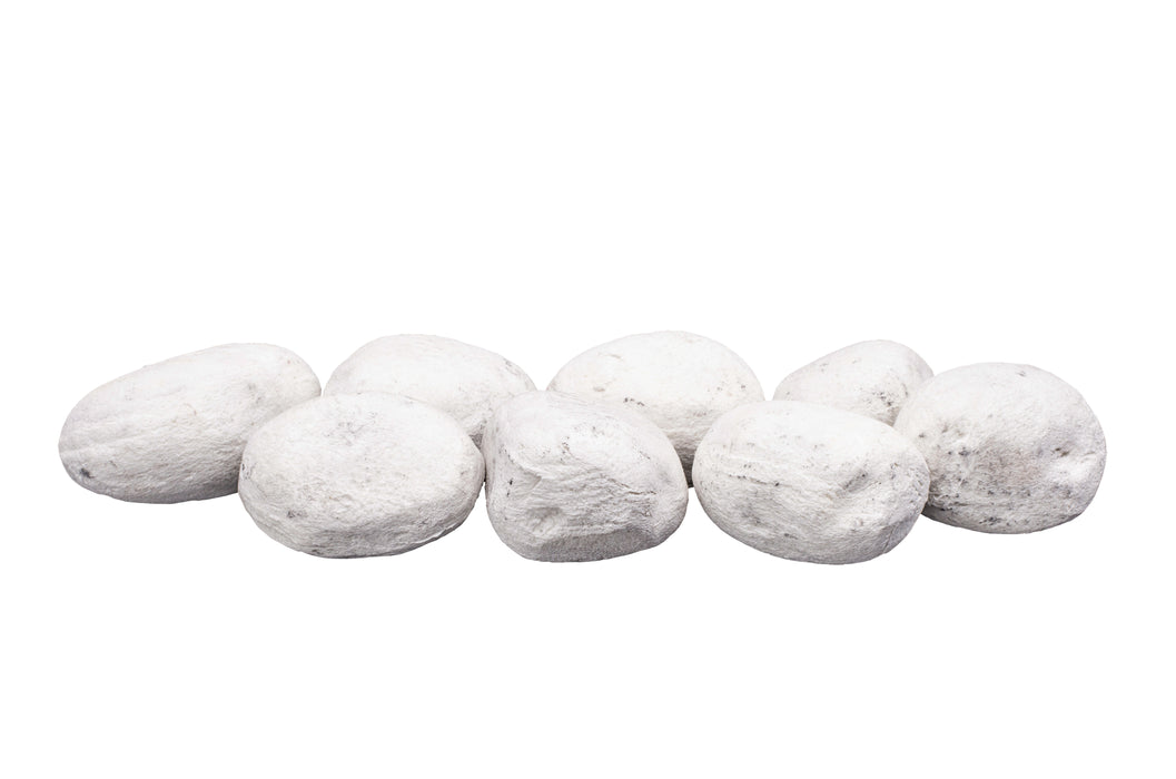 "Bond 50852 - 3"" inch White Permacoal Firestones, Fire Pit & Fireplace Stones"