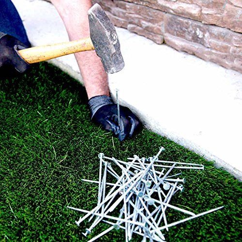 "Synthetic Grass 5.5"" Stakes, (5lbs) Spikes, Artificial Turf Mat Nails - Approximately 150 Nails"