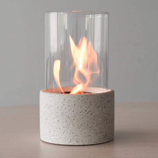 Round Modern Table Top Cement Fire Bowl