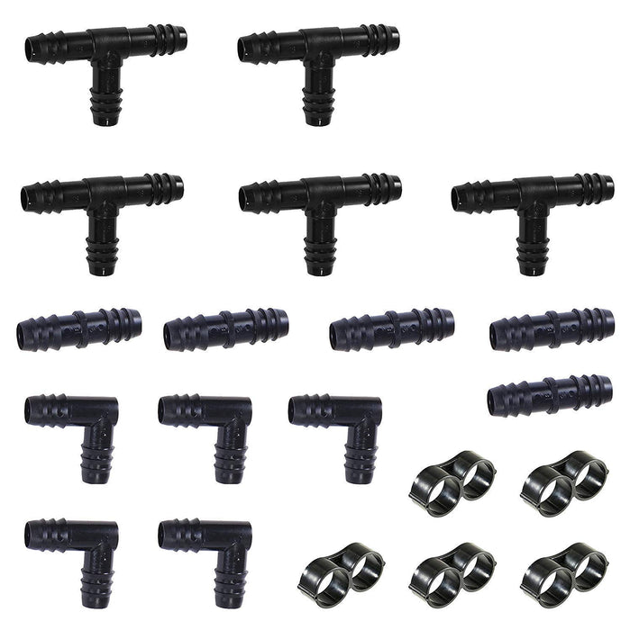 20 Piece 1 2 Quot Barb Insert Drip Fittings Kit Tee