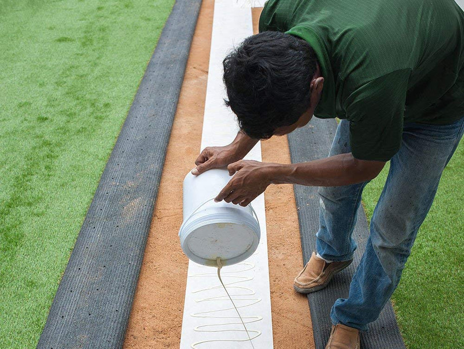USA MADE 25'ft Turf Seam Kit - 32 Ounces of Glue, 5lbs Artificial Grass Nails, 25' Seam Fabric